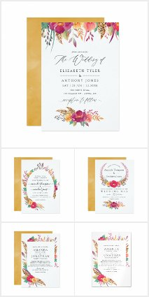Watercolor Floral Safari Wedding