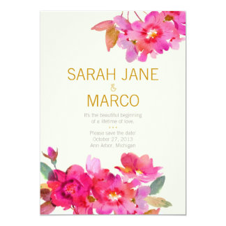 Watercolor Floral | Save the Date Card