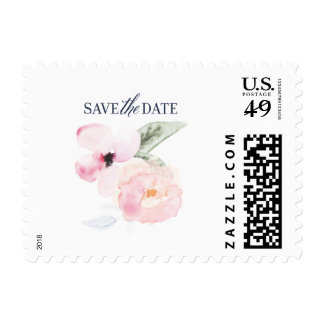 Watercolor Floral Save the Date Stamps