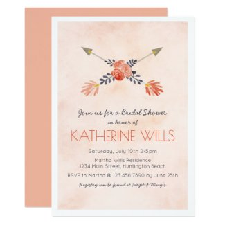 Watercolor Floral Shower Invite