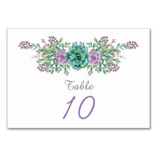 Watercolor Floral Succulent Wedding Card