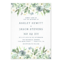 Watercolor Floral Succulent Wedding Invitations