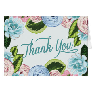 Watercolor Floral Thank You Note Cards 2