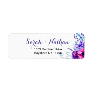 Watercolor Floral Wedding Address labels