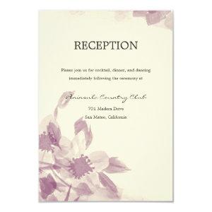 Watercolor Floral Wedding Invitation 3.5