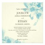 Watercolor Floral Wedding Invitation Announcement