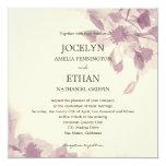 Watercolor Floral Wedding Invitation Invitations