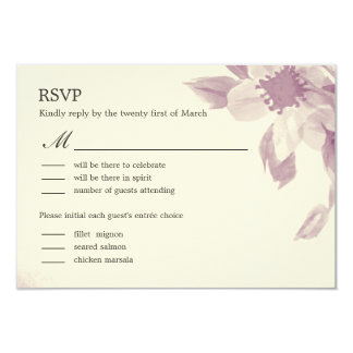 """Watercolor Floral Wedding RSVP Card 3.5"""" X 5"""" Invitation Card"""