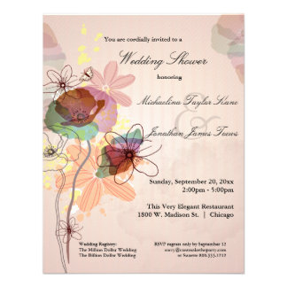 Watercolor Floral Wedding Shower Invite