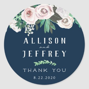 Bride Themed Watercolor Floral White Green Sticker