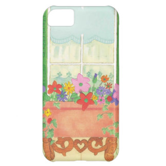 watercolor floral window pane case for iPhone 5C