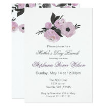 Watercolor Florals Mother's Day Brunch Tea Party Invitation