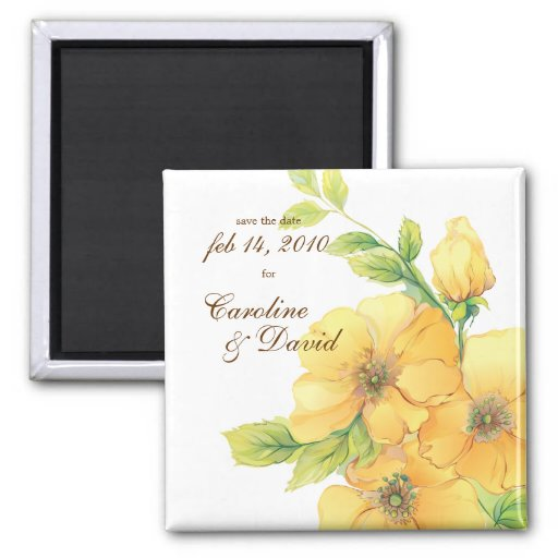 Watercolor Florals Save the Date Magnet