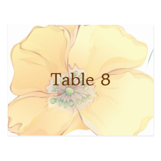 Watercolor Florals Wedding Place Card Size: