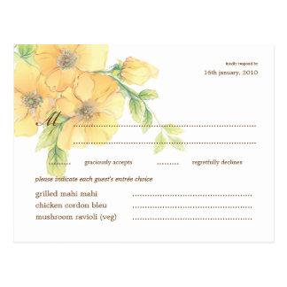 Watercolor Florals Wedding Response RSVP Postcard