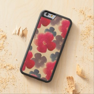 Watercolor Florals Carved® Maple iPhone 6 Bumper Case