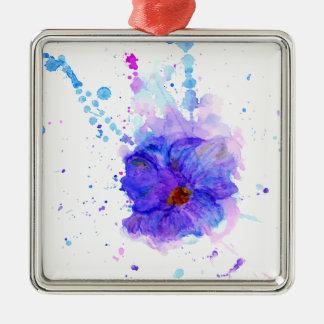 Watercolor Flower 3 Metal Ornament