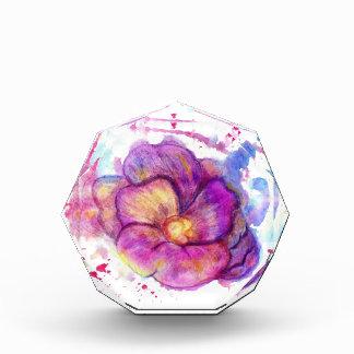 Watercolor Flower Acrylic Award
