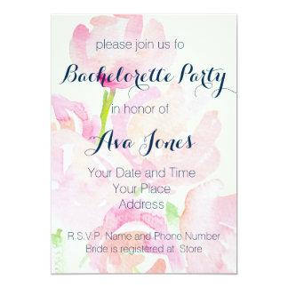 Watercolor Flower Bouquet Bachelorette Party Card