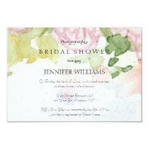 Watercolor flower bridal shower invitations