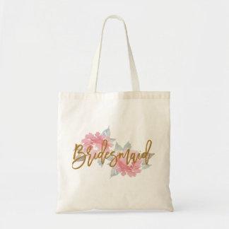 Watercolor Flower BRIDESMAID Wedding Tote Bag