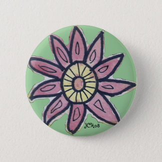 Watercolor Flower Button