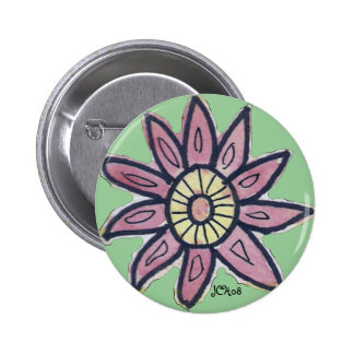 Watercolor Flower Button