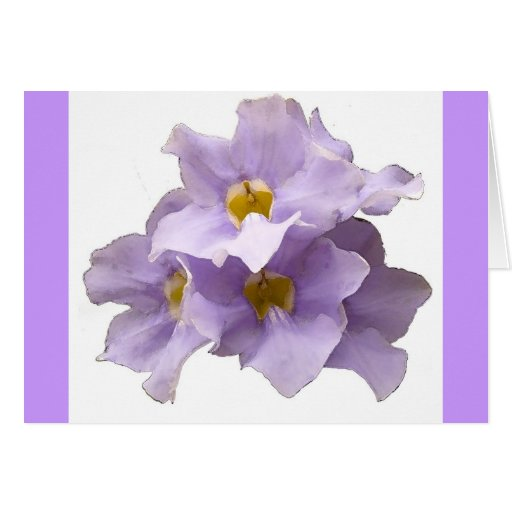 Watercolor flower card