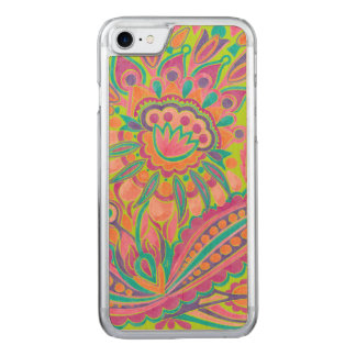 Watercolor Flower Carved iPhone 7 Case