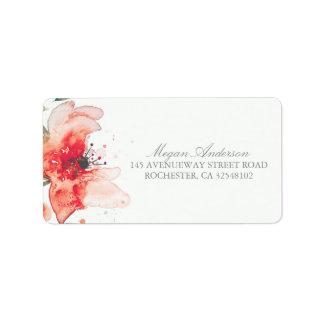 Watercolor Flower Cute Wedding Label