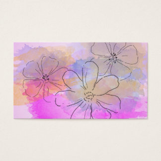 Watercolor Flower Fantasy Business Card