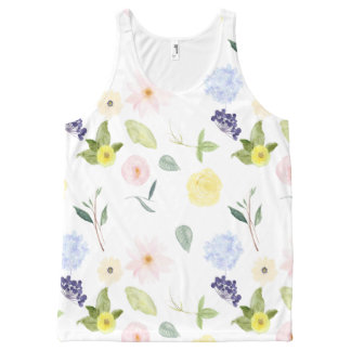 Watercolor Flower Garden All-Over-Print Tank Top