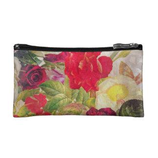 Watercolor Flower Garden Cosmetic Bag