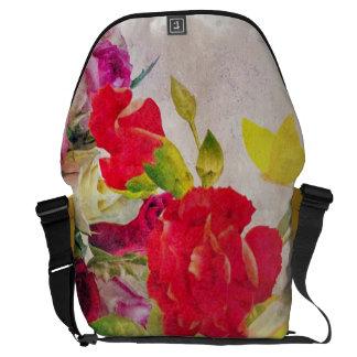 Watercolor Flower Garden Courier Bag