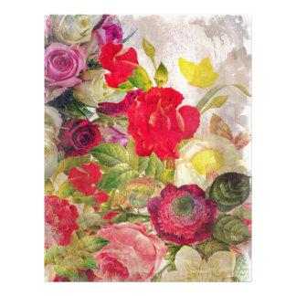 Watercolor Flower Garden Letterhead