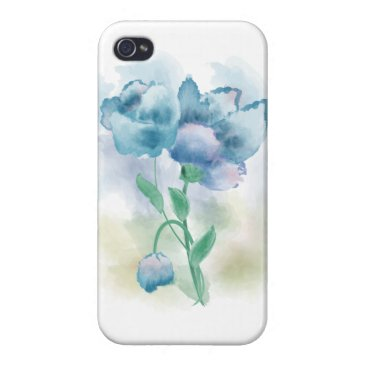 Watercolor Flower Case For iPhone 4
