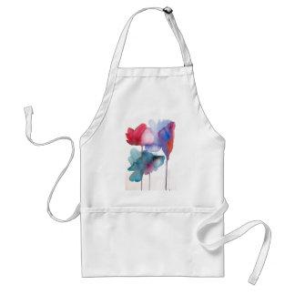 Watercolor flower modern floral art design adult apron