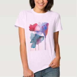 Watercolor flower modern floral art design tee shirt
