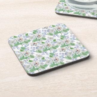 Watercolor Flower Pattern Coasters (set of 6)