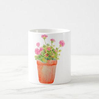 Watercolor Flower Pot Mug