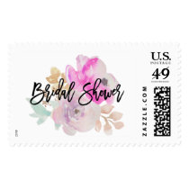Watercolor Flower Spring Wedding Bridal Shower Postage
