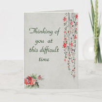 Watercolor Flower sympathy for loss of husband Card