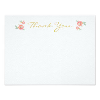Watercolor Flower Thank You Cards Custom Invite