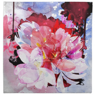 Watercolor flowers. Abstract illustration Cloth Napkin