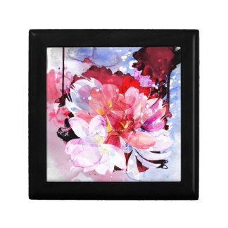 Watercolor flowers. Abstract illustration Gift Box
