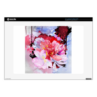Watercolor flowers. Abstract illustration Laptop Decals