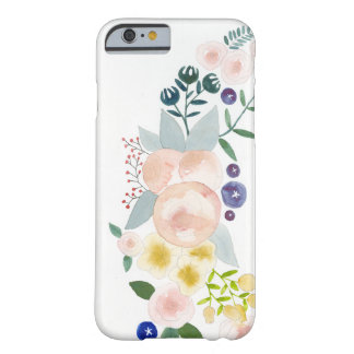 Watercolor Flowers and Leaves Barely There iPhone 6 Case