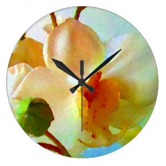 Watercolor Flowers Art Photo Modern Acryllic Wallclock