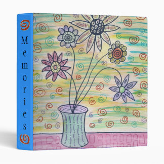 Watercolor Flowers Binder