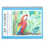 Watercolor Flowers Birds and Landscapes Calendar
